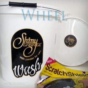 Shiny Garage Wiadro 15L Wheel w zestawie z pokrywką i separatorem brudu ScratchShield